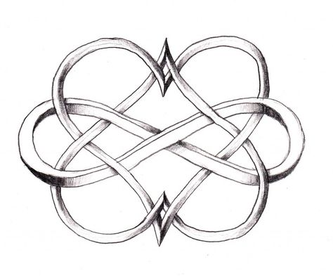 Celtic hearts with infinity sign holding them together symbolizing the forever love protection from a mother to her baby . Love this.