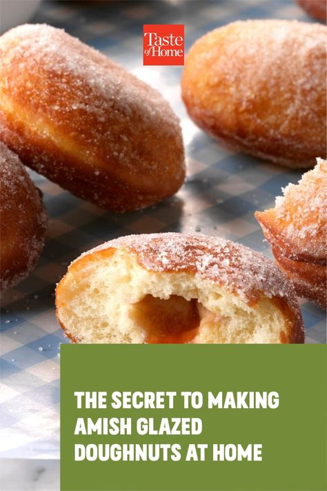 Got that craving for light and airy doughnuts? We can't blame you. Try making these Amish glazed doughnuts at home.