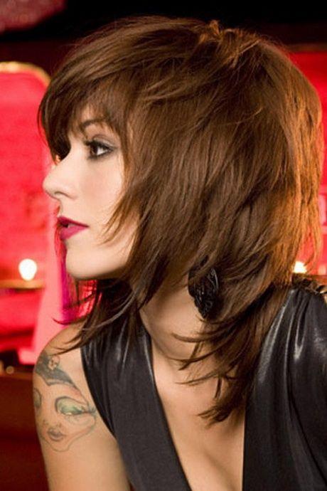 Durchgestufter Bob Mittellang Haarschnitt Haarschnitt Frauen Frisuren 2018