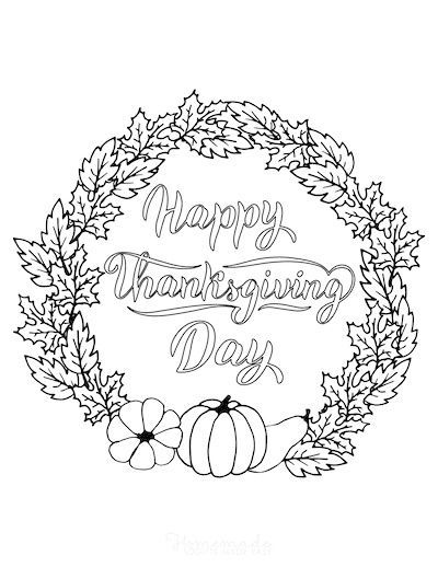 Happy Thanksgiving Coloring Pages Pdf Amazing Design