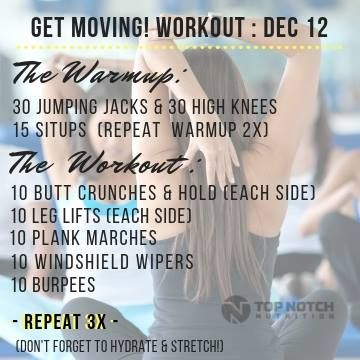 Wednesday 12 12 Get Moving Workout Programs Get Moving Listening To You
