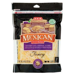 H E B Select Ingredients Mexican Style Blend Cheese Shredded Shop Cheese At H E B Natural Cheese Mild Cheddar H E B