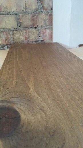 Stain On Pine Floor Half Minwax Dark Walnut And Half Weathered