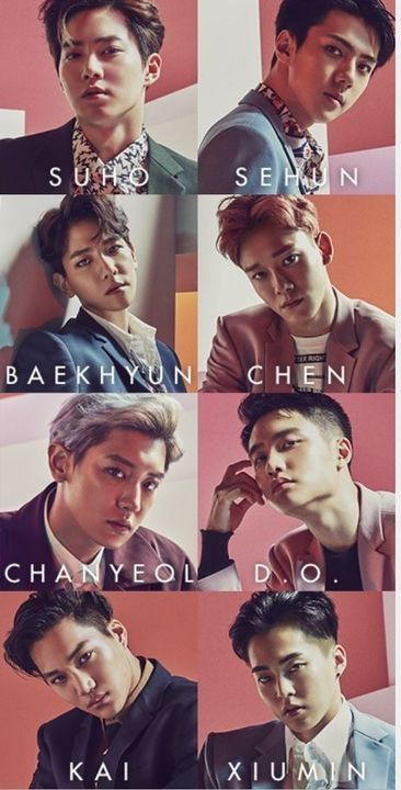 The EXO members look amazing in their shots. - K-Pop, Wallpapers, Quotes, Sport, Home and Kpop Exo, Exo Mitglieder, Exo Chen, Baekhyun Chanyeol, Exo Music, Exo Album, Exo Official, Exo Lockscreen, Dibujo