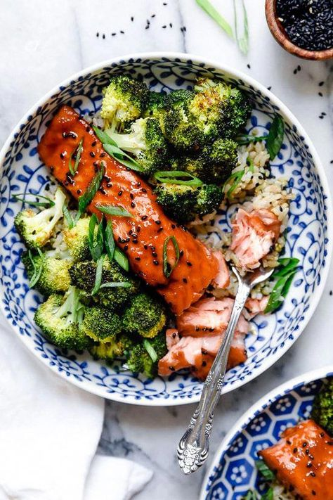 Healthy Air Fryer Salmon with Maple Soy Glaze is delicious, and ready in minutes! #recipes, #food, #cookies, #healthyrecipes , #healthyfood, #foodphoto, #cake, #pastry #TastyHealthyFoodRecipes