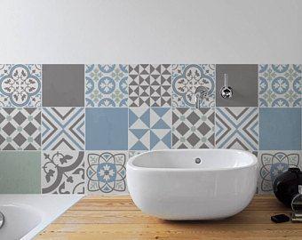 Carreaux Portugais Pastel Mur Escalier Stickers Carrelage