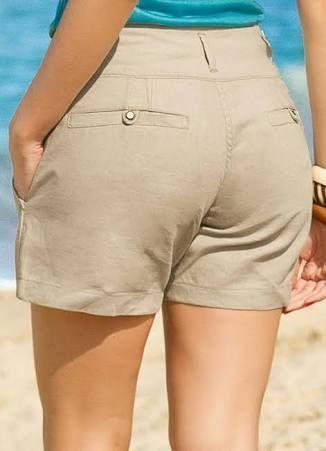 af7f00fa93be1a Resultado de imagem para bermudas femininas sociais de linho   blusa ...