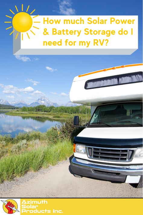 How much Solar Power & Battery Storage do I Need for my RV / Cabin / Cottage / Tiny Home?