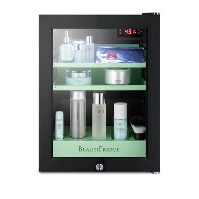 Summit Appliance Beautifridge Cosmetics Countertop Mini Fridge In 2020 Mini Fridge Tempered Glass Door Compact Refrigerator