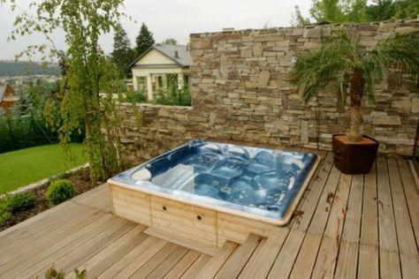 Whirlpool Im Garten Gonnen Sie Sich Diese Art Der Entspannung Diese Entspannung Garten Gonnen Whirlpool Hot Tub Garden Hot Tub Backyard Hot Tub Patio