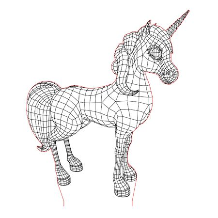 Unicorn 3d Illusion Led Lamp Vector File For Laser And Cnc 3bee Studio 3d Illusions Illusions 3d Illusion Lamp