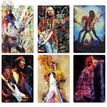 Rock Legends Metal Wall Art Decor Man Cave Wall Art Music Wall Art Metal Wall Art