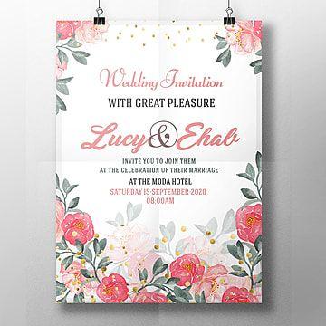 وردة زفاف قالب دعوة الزفاف Wedding Invitation Templates Wedding Invitations Wedding Invitation Posters