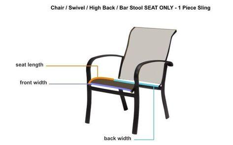 Chair Swivel High Back Bar Stool