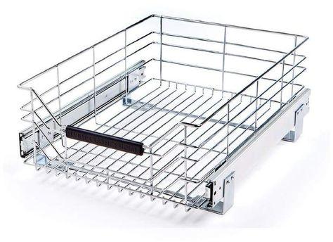 Rebrilliant Camryn Sliding Storage Drawer Storage Drawers Kitchen Hacks Organization Cabinet Organization