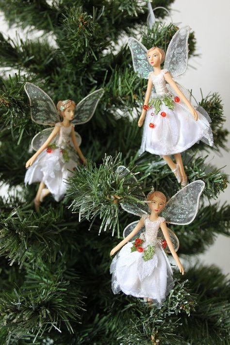 Gisela Graham Forest Whispers Set Of 3 Resin Fabric Fairy Decoration Amazon Co Uk Kitchen Home Decorațiuni Păpuși