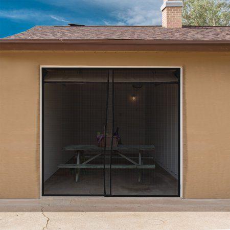 Pure Garden Magnetic One Door Garage Screen Mesh Walmart Com Garage Screen Door Garage Doors Garage Door Design