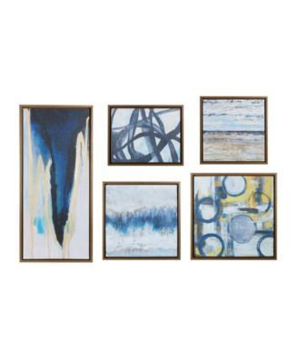 Jla Home Madison Park Blue Bliss Gallery Art Set Of 5 Reviews Wall Art Macy S In 2020 Canvas Wall Art Canvas Wall Art Set Wall Art Sets
