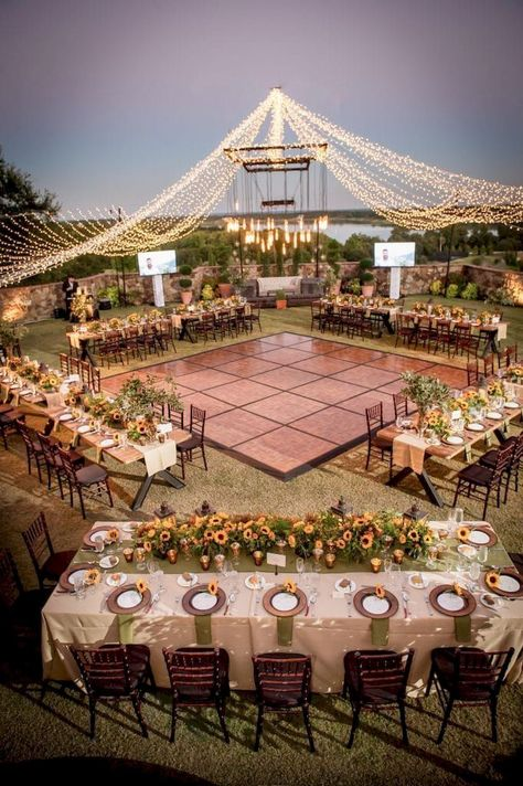 "30 GORGEOUS GARDEN WEDDING DECOR IDEAS - I do Hello guys? We had previously discussed ""backyard"" and ""wedding"" decorations. This time we will combine a gorgeous garden wedding decor. Are you interested in backyard weddings? Planning this type of wedd Wedding Reception Ideas, Seating Plan Wedding, Wedding Dinner, Outdoor Wedding Seating, Indoor Wedding, Wedding Themes, Outdoor Wedding Lights, Rustic Wedding Venues, Seating Arrangement Wedding"