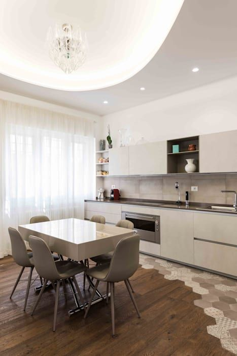 Pavimento cucina di orsolini moderno legno effetto legno ...