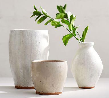 Shay Ceramic Vases Clear Glass Vases Ceramic Vase Pottery Barn