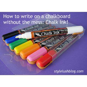 Chalkboard Markers If You Want To Write Very Neat And Even These Can Be Found At Joann S Or Michael S Craft Stores Chalk Liquid Chalk