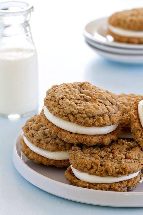 Homemade Oatmeal Cream Pies  @FoodBlogs