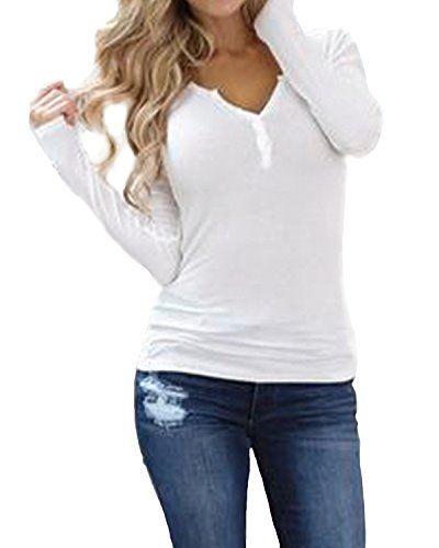 All saints femme Lilly Blanc Coupe Décontractée Homme Haut à manches longues T-Shirt Tee