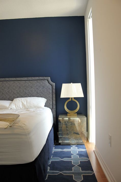 Benjamin Moore Down Pour blue paint | beautiful navy color | Marion HouseBook