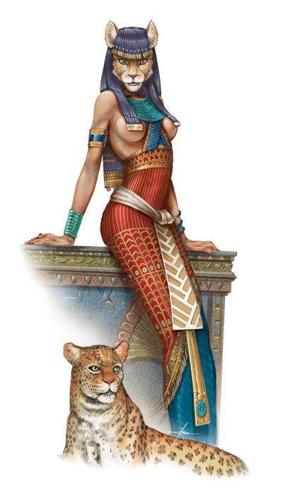 Bastet Ancient Egyptian Deity Cuff Bracelet