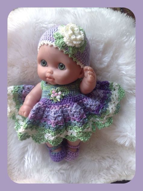 Knitted Doll Clothes Set 12 11 10 Inch Knit Doll Outfit for Stuff Toy Clothes Doll Clothing Dress for Soft Toy