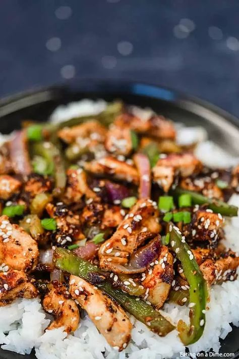 Skip takeout and make this delicious Black pepper chicken recipe in 15 minutes. Black pepper chicken Chinese is an easy one pot meal. Copycat Panda Express stir fry is the best Chinese buffet at home. #eatingonadime #blackpepperchickenrecipe #pandaexpress #chineserecipe #asian