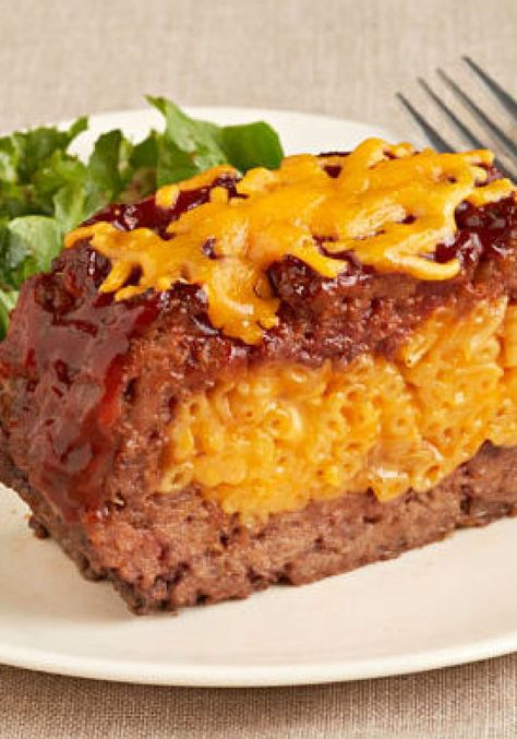 Macaroni and Cheese Stuffed Meatloaf – Tender, juicy meatloaf stuffed with classic macaroni and cheese? Oh, yes—and making it is even easier than it might sound. Your kids are sure to really enjoy the cheesy surprise inside!