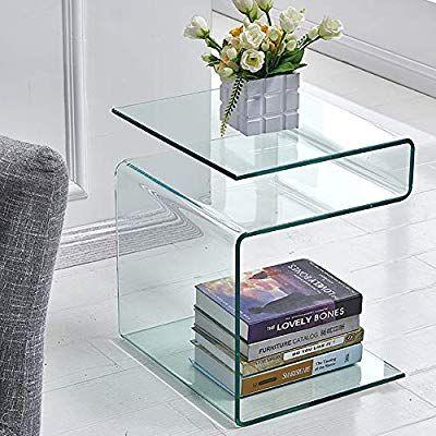 glass side table living room