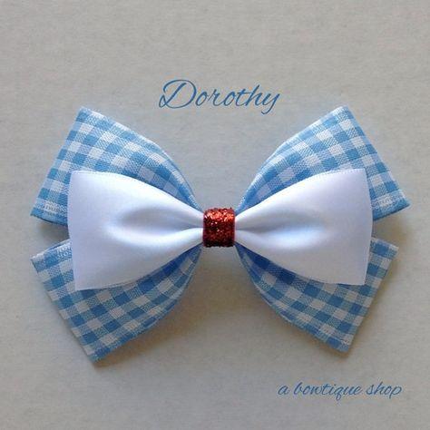 dorothy hair bow by abowtiqueshop on Etsy