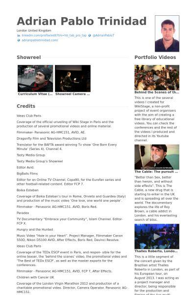 12 best work images on pinterest resume examples videos and website video resume website