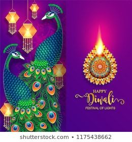 Happy Diwali Festival Card With Gold Diya Patterned And Crystals On P Indian Wedding Invitation Cards Wedding Invitation Card Template Wedding Invitation Cards