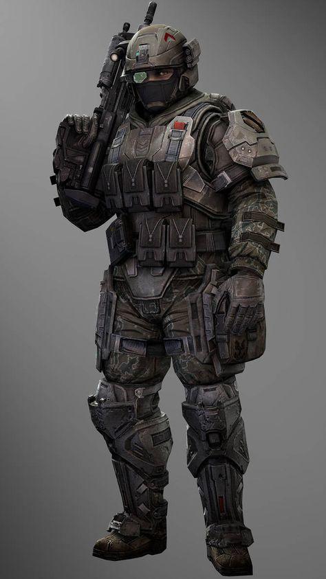 UNSC Sergeant Man by SuperNinjaNub