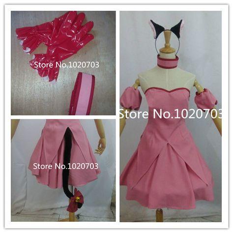 Tokyo Mew Mew Ichigo Momomiya Summer School Uniform Dress Cosplay Costume