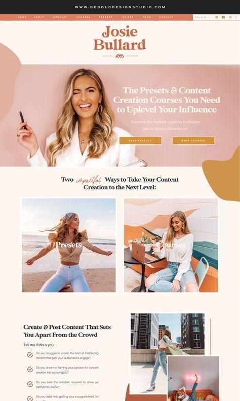 Josie Bullard | Digital Creator · Brand & Showit Website Designer