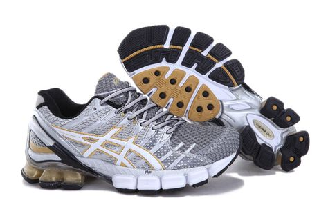 best service abaa0 9f26d Asics Gel Kinsei 4 Men s Running Shoes White Grey  onitsukatiger