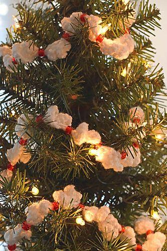 Easy Crocheted Popcorn Garland Diy Christmas Tree Garland Christmas Tree Garland Popcorn Garland