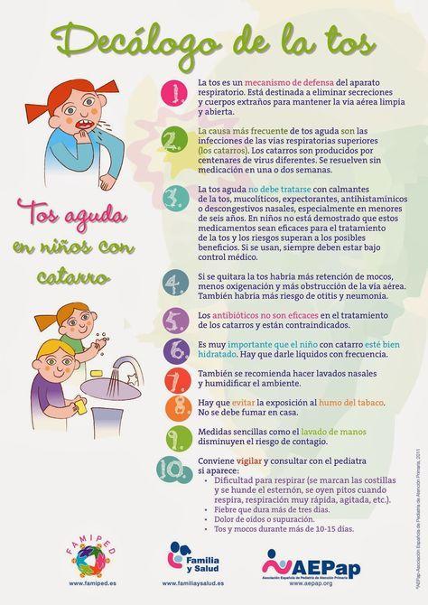 Decálogo De La Tos En Niños Tos Niños Tos En Bebes Cosas De Enfermeria