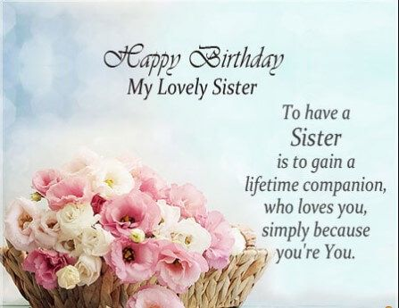 55 Best Birthday Quotes For Sister Sister Birthday Card Happy