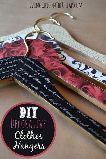 Diy Decorative Clothes Hangers This Was Such An Easy Project