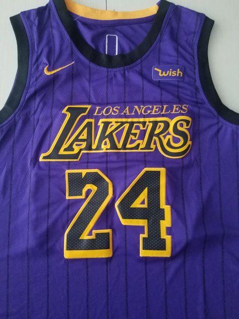 New Men 24 Kobe Bryant Jersey Purple Los Angeles Lakers Swingman City Nreball Nba Jersey Jersey Kobe Bryant