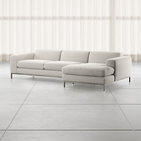 Nixie Grey 2 Piece Sectional Sofa Crate And Barrel Oversized Sectional Sofa 2 Piece Sectional Sofa Sectional Sofa