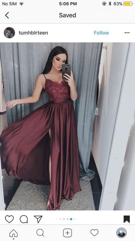 Pin De پيا En Dresses En 2019 Vestidos Vestidos Guindas Y