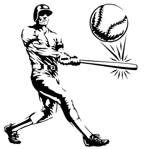 470x480 Batter Hits Ball Decal Sticker Ball Drawing Baseball Balls Pictures To Draw