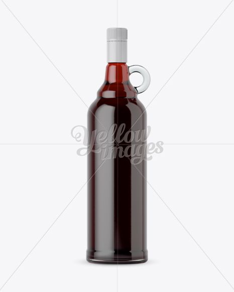 Download Red Wine Bottle Mockup Yellow Images